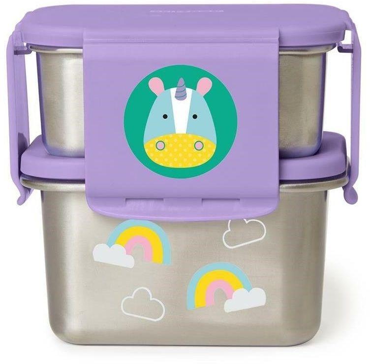 Skip Hop - Stalowe pudełko śniadaniowe Jednorożec