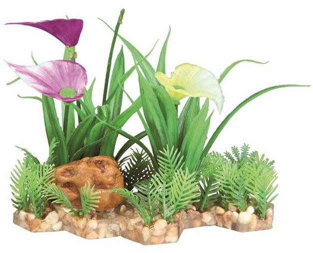Sztuczna roślina w żwirku, 13 cm