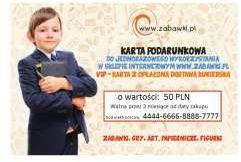 Karta podarunkowa VIP 50 PLN z transportem