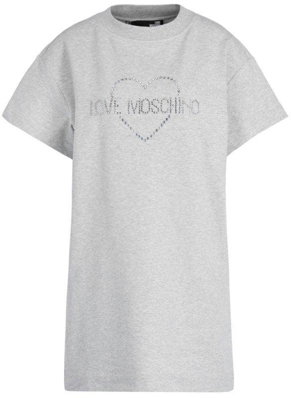LOVE MOSCHINO Sukienka codzienna W5B1102E1958 Szary Regular Fit