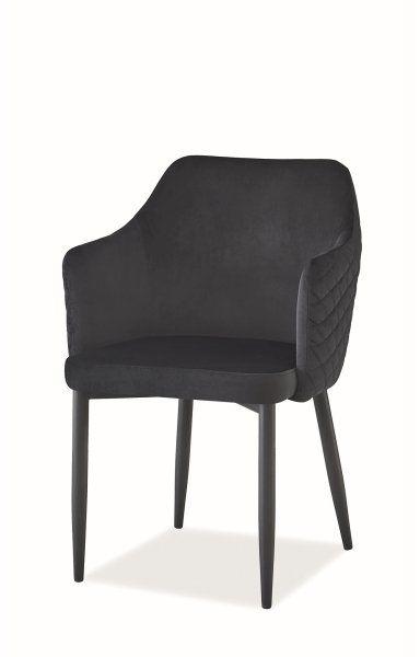 Krzesło ASTOR VELVET czarne