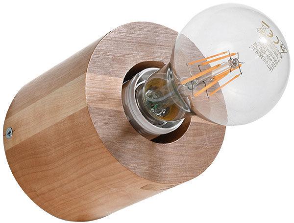 Drewniany okrągły kinkiet - EX637-Salgadi