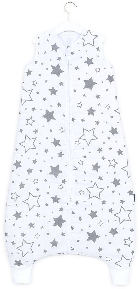MAMO-TATO Śpiworek muślinowy z nogawkami 92 - 110 - Duże gwiazdy