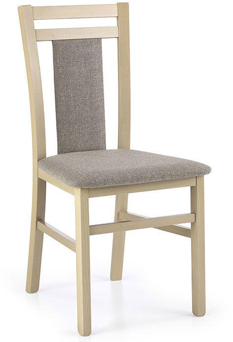 Drewniane krzesło tapicerowane Thomas - Białe