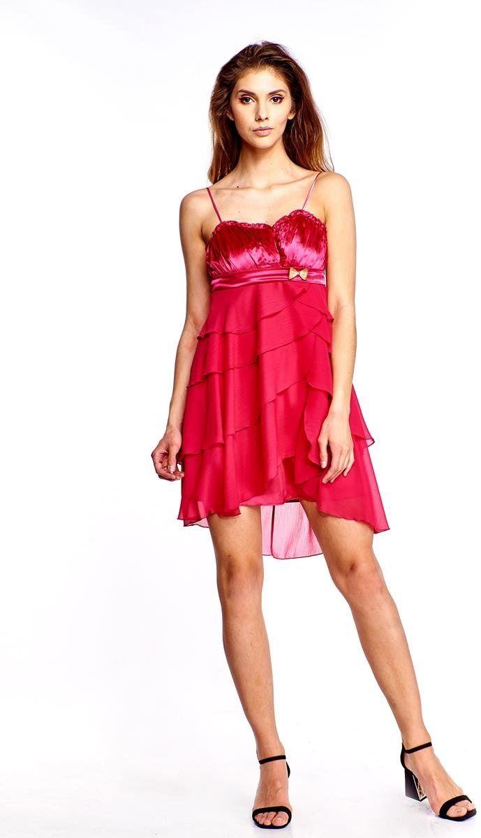 Sukienka FSU183 AMARANTOWY ŚREDNI