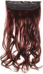 hair2heart Clip in Extensions, waga włosów 130 g, falowane, 110 burgundy