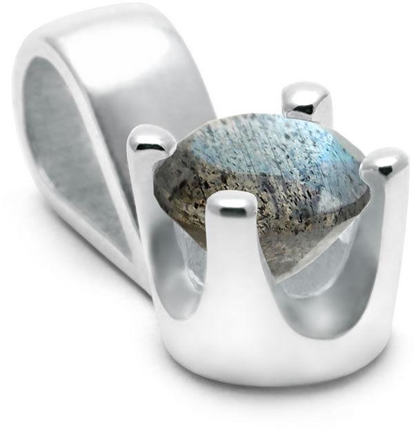 Kuźnia Srebra - Zawieszka srebrna, Labradoryt, 1g, model