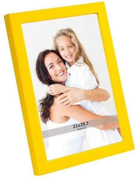 Ramka na zdjęcia 21 x 29,7 cm żółta
