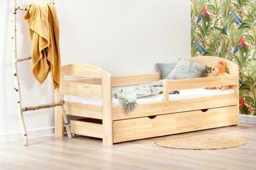 BumbleBee łóżko pojedyncze z szufladą kolor sosna