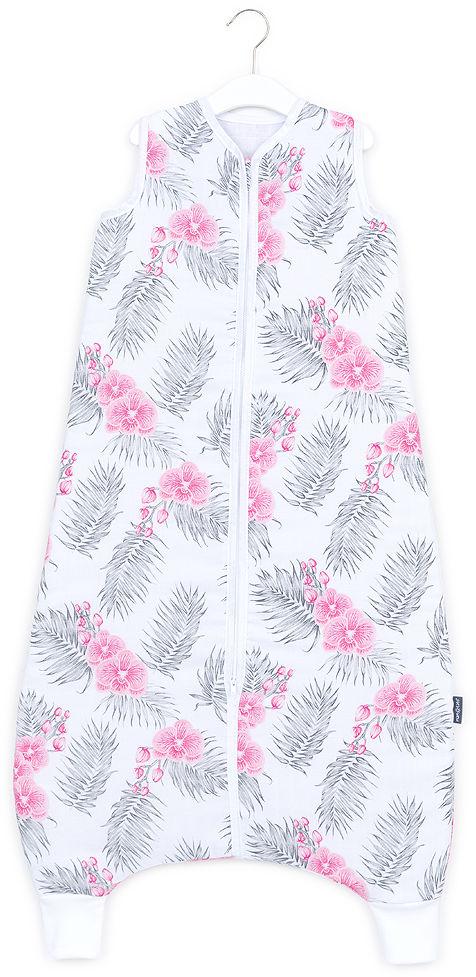 MAMO-TATO Śpiworek muślinowy z nogawkami 92 - 110 - Kwiaty