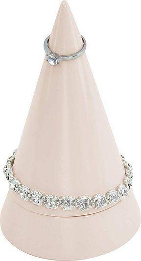 Stojak na biżuterię cone duży różowy