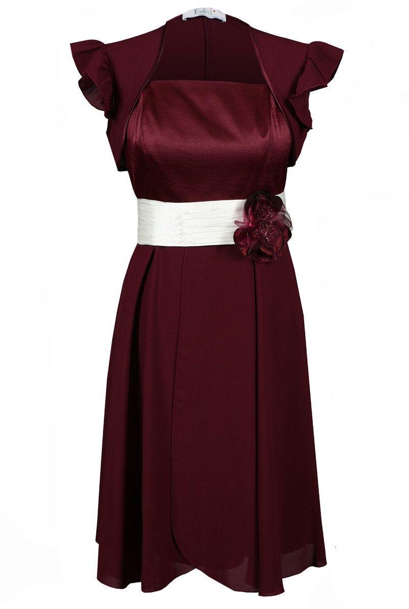 Sukienki Sukienka Suknie FSU184 BURGUNDOWY