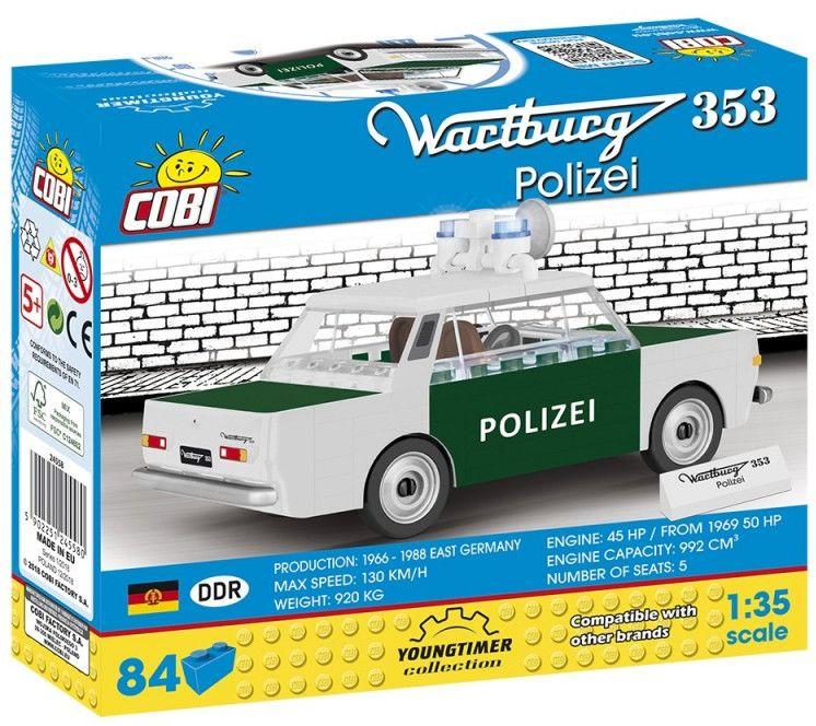 Klocki Cars Wartburg 353 Polizei