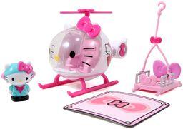 Dickie Toys 253243000 Helicopter, helikopter, przednia szyba do otwierania, odpinany uchwyt, z figurką Hello-Kitty, która zajmuje miejsce w kokpicie, 17,5 cm, od 3 lat, kolor biały /