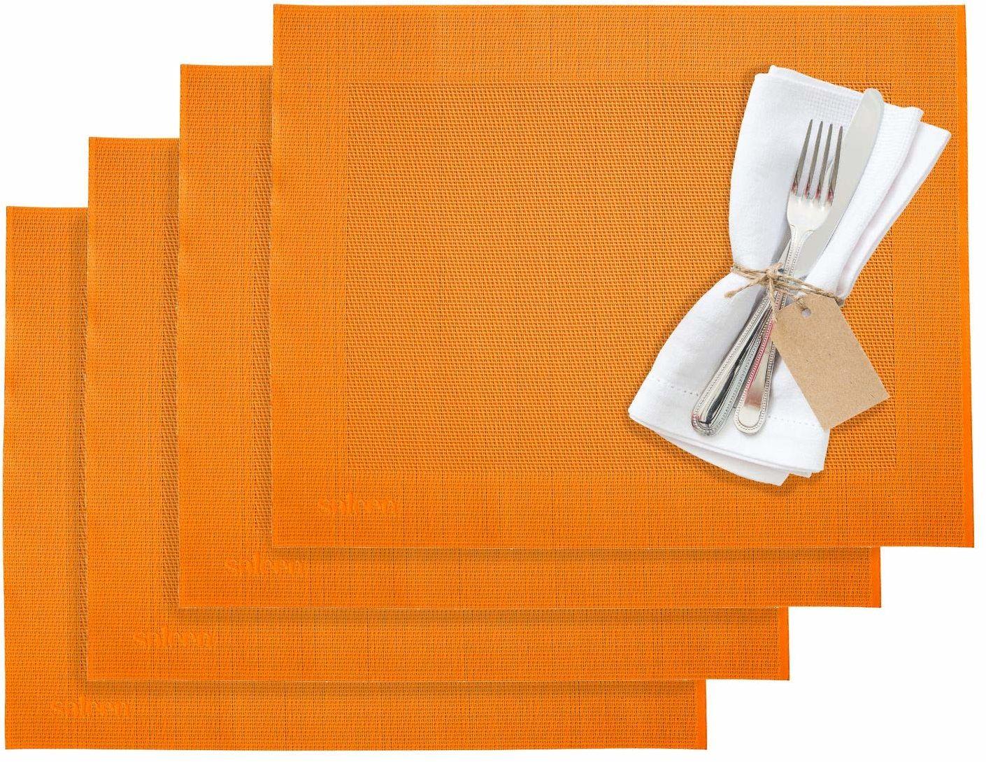 Westmark podkładki stołowe/podkładki stołowe, 4 sztuki, 42 x 32 cm, syntetyczne, pomarańczowe, Saleen Edition: Home