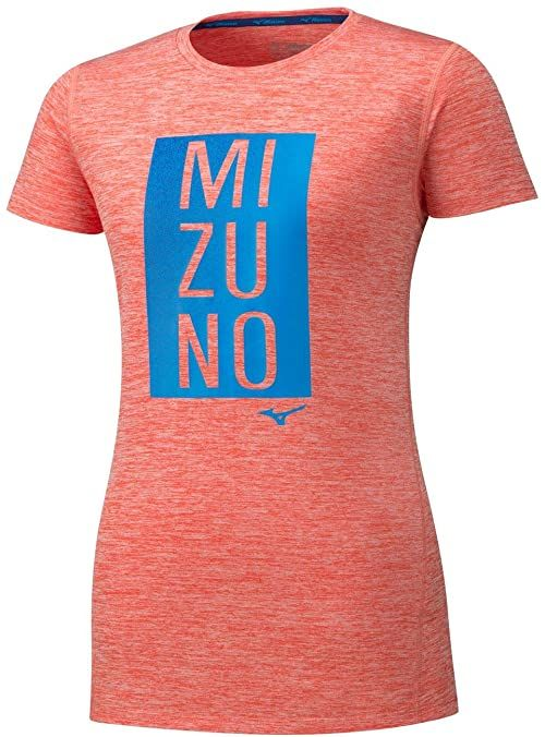 Mizuno Impulse Core Blocks T-Shirt damski, niebieski, XS