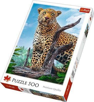 Puzzle 500 elementów - Dziki lampart