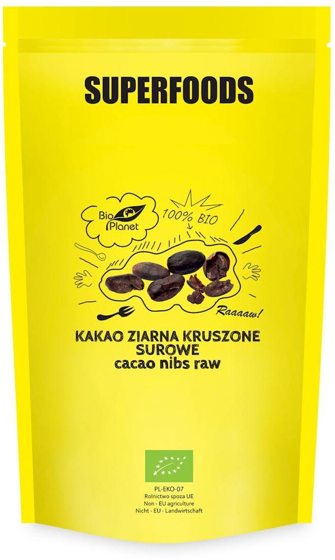 Kakao ziarna kruszone surowe bio 600 g - bio planet