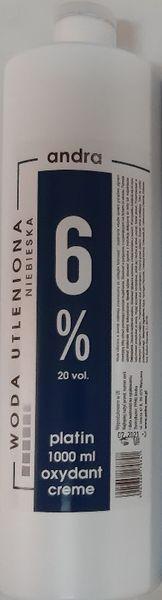 ANDRA Niebieska woda utleniona oxydant krem 6% 1000ml