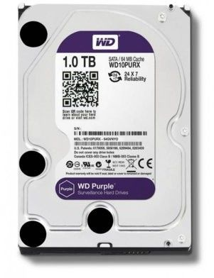"WESTERN DIGITAL Purple 1TB 3.0 64 MB 5400 rpm 3,5"" (WD10PURZ)"