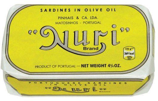 Sardynki portugalskie w oliwie z oliwek NURI 125g