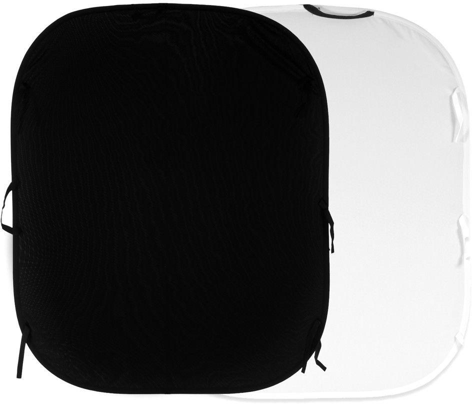 Lastolite LL LB5921 - tło składane Plain Reversible czarne/ białe 1,8x2,15m