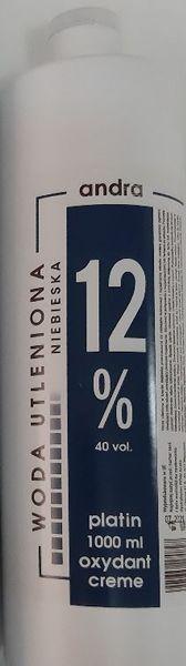 ANDRA Niebieska woda utleniona oxydant krem 12% 1000ml