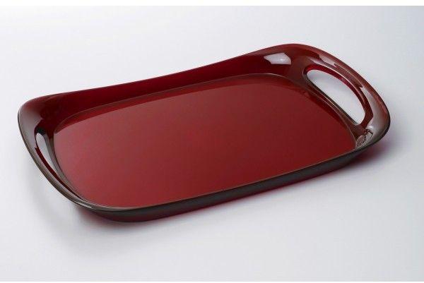 Casa Bugatti GLAMOUR Taca 46 x 30 cm Czerwona