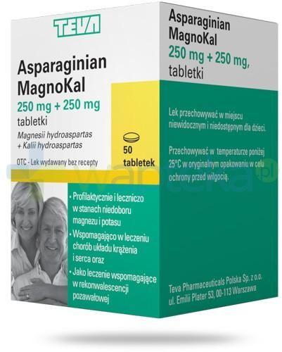 Teva Asparaginian MagnoKal 50 tabletek