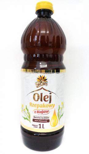 Olej rzepakowy tłoczony na zimno 1l Skolej