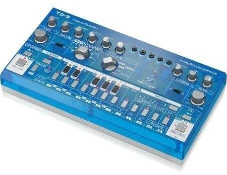 Behringer TD-3-BB Syntezator linii basowej niebieski przeźroczysty