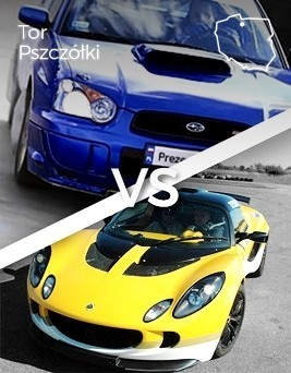 Jazda Lotus vs Subaru  Tor Pszczółki