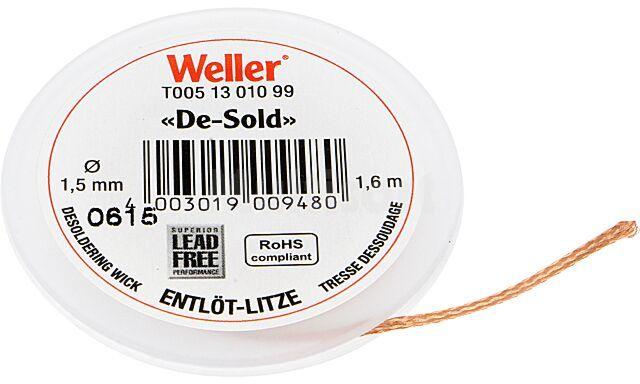 Taśma rozlutowująca WELLER 1,5mm/1,6m