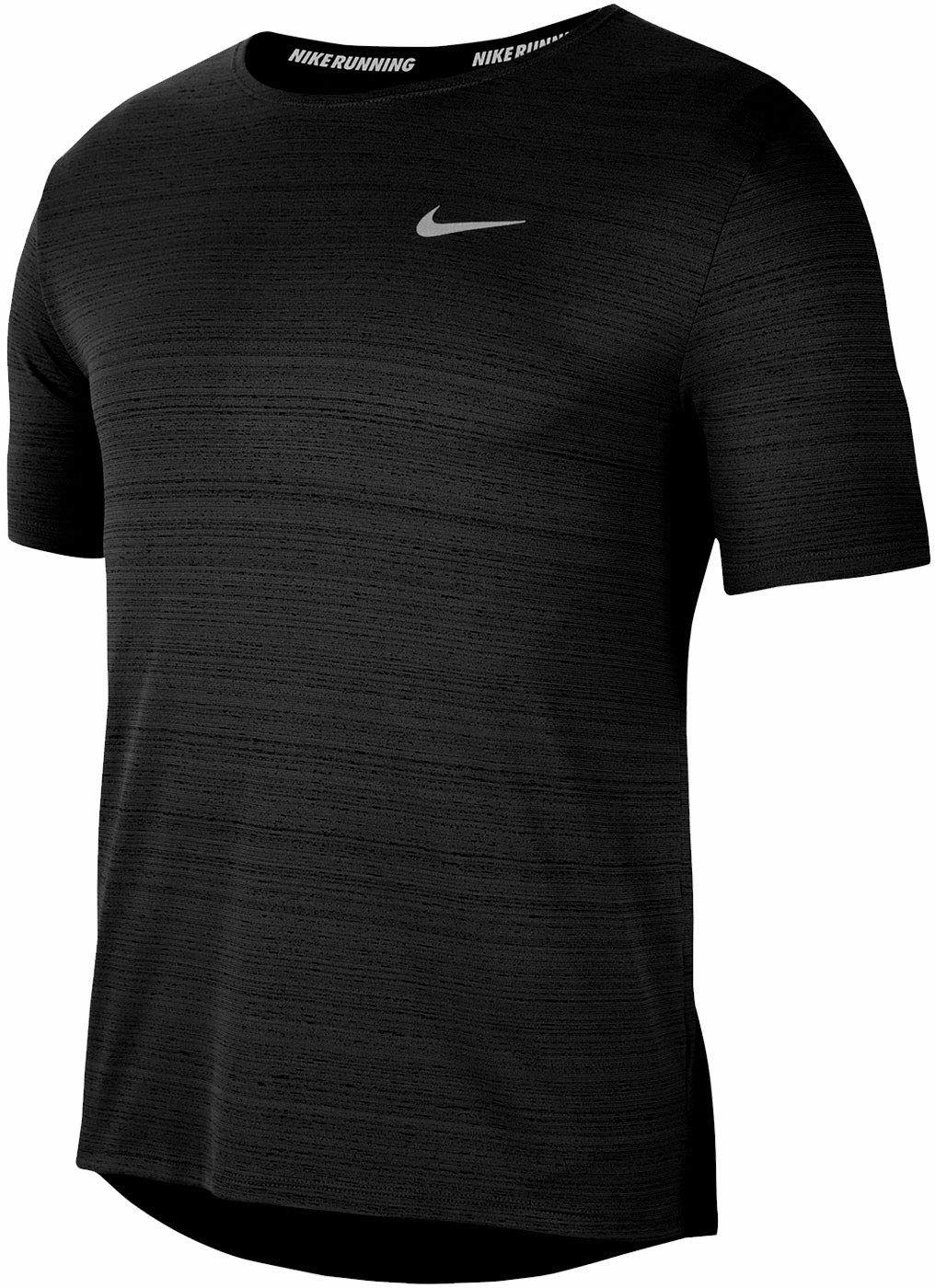 Nike Koszulka męska M Nk Df Miler Top Ss Czarny (odblaskowy srebro) L