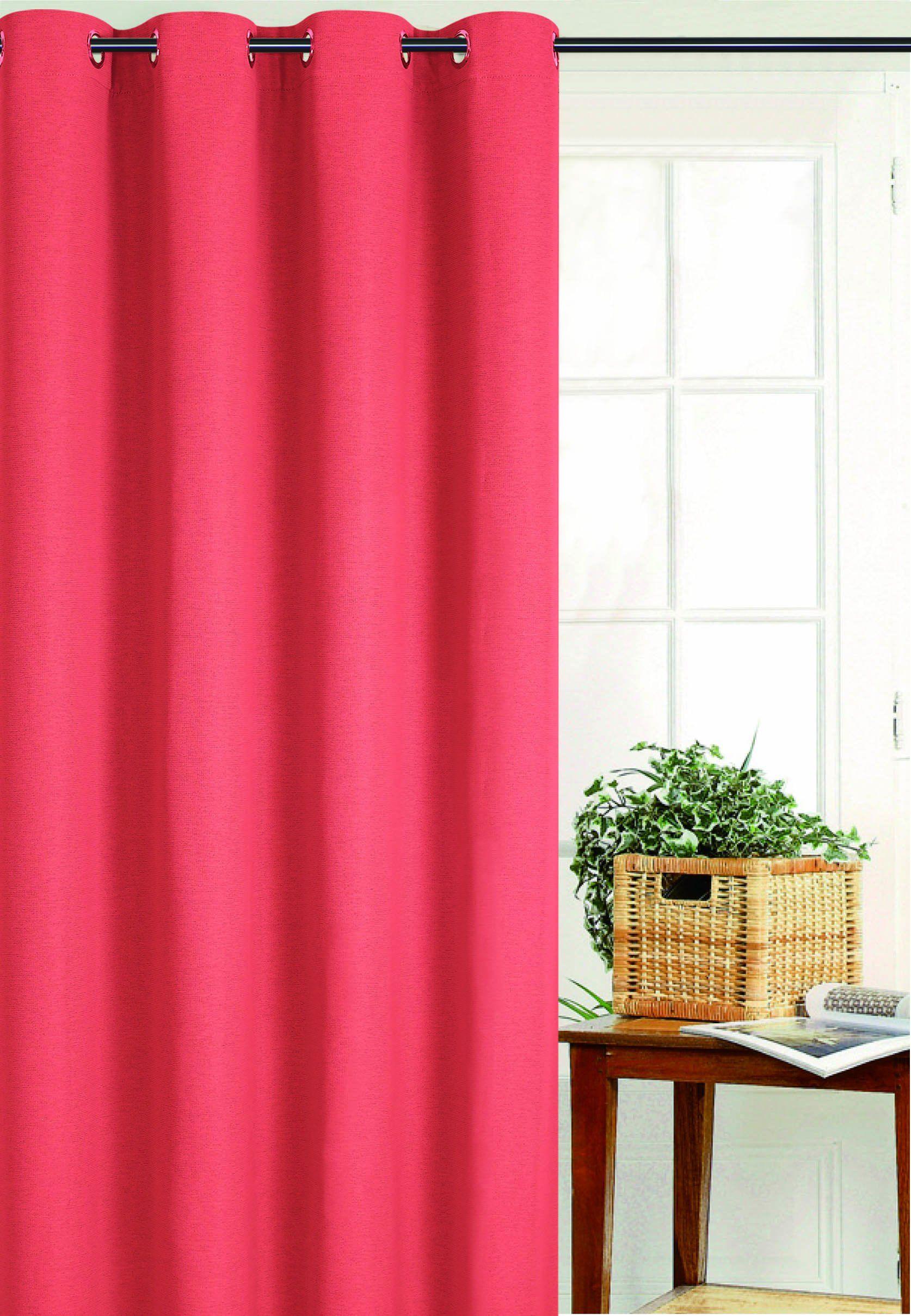 HomeMaison Zasłona zaciemniająca uniwersalna, poliester, pomarańczowa, 250 x 135 cm