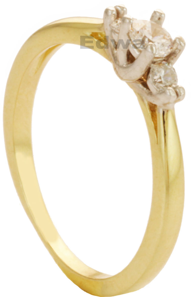 Pierścionek złoty zaręczynowy z cyrkoniami pr.585