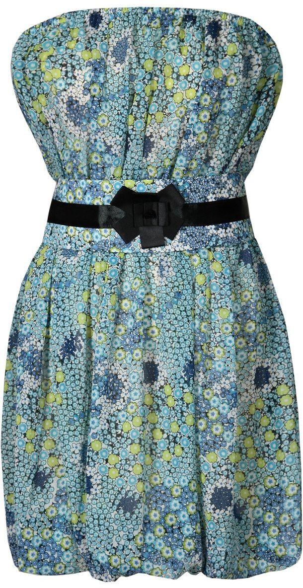 Sukienka FSU151 TURKUSOWY