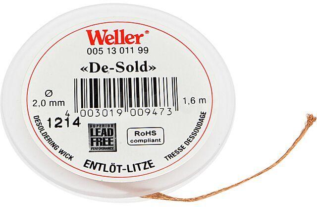 Taśma rozlutowująca WELLER 2mm/1,6m