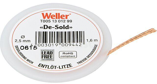 Taśma rozlutowująca WELLER 2,5mm/1,6m