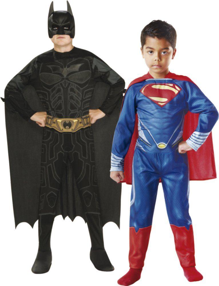Rubie ''s  zestaw 2 kostiumów Batmana i Supermana, dla dzieci (154994) L
