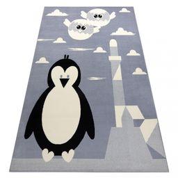 Dywan BCF FLASH Penguin 3997 - Pingwin, pingwinek szary 120x160 cm