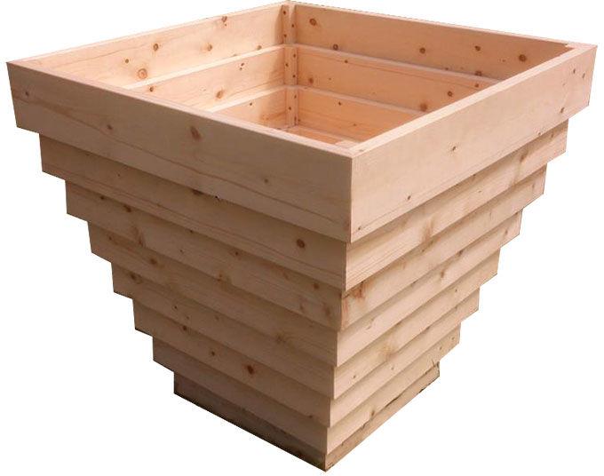 Kwadratowa drewniana wysoka donica ogrodowa - Tulia