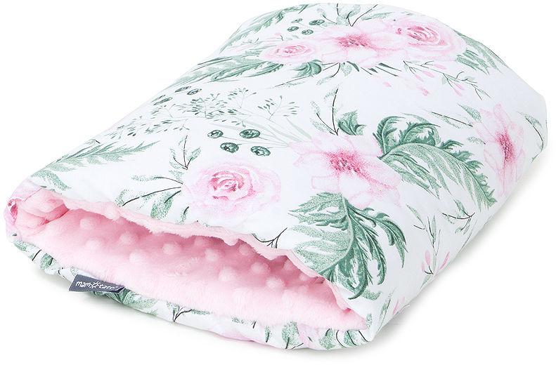 MAMO-TATO Poduszka na rękę do karmienia - Różany ogród / jasny róż