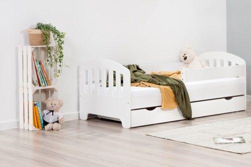 Łóżko 140x70cm Sweet Armadillo pojedyncze z szufladą kolor biały