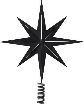 House Doctor TOP STAR Czubek do Choinki Świątecznej - Czarny