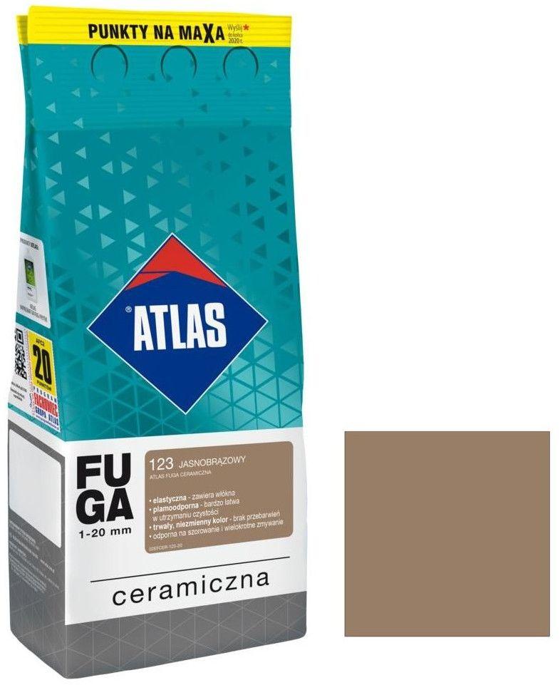 Fuga ceramiczna Atlas 123 jasnobrązowa 2 kg