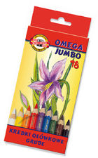 Koh i noor Jumbo Kredki Omega 10mm 18 kol