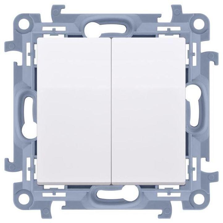 Włącznik podwójny Z PODŚWIETLENIEM SIMON 10 Biały SIMON