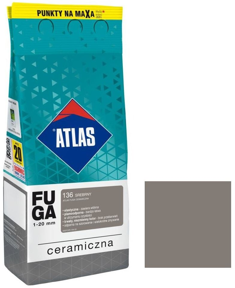 Fuga ceramiczna Atlas 124 ciemne wenge 2 kg
