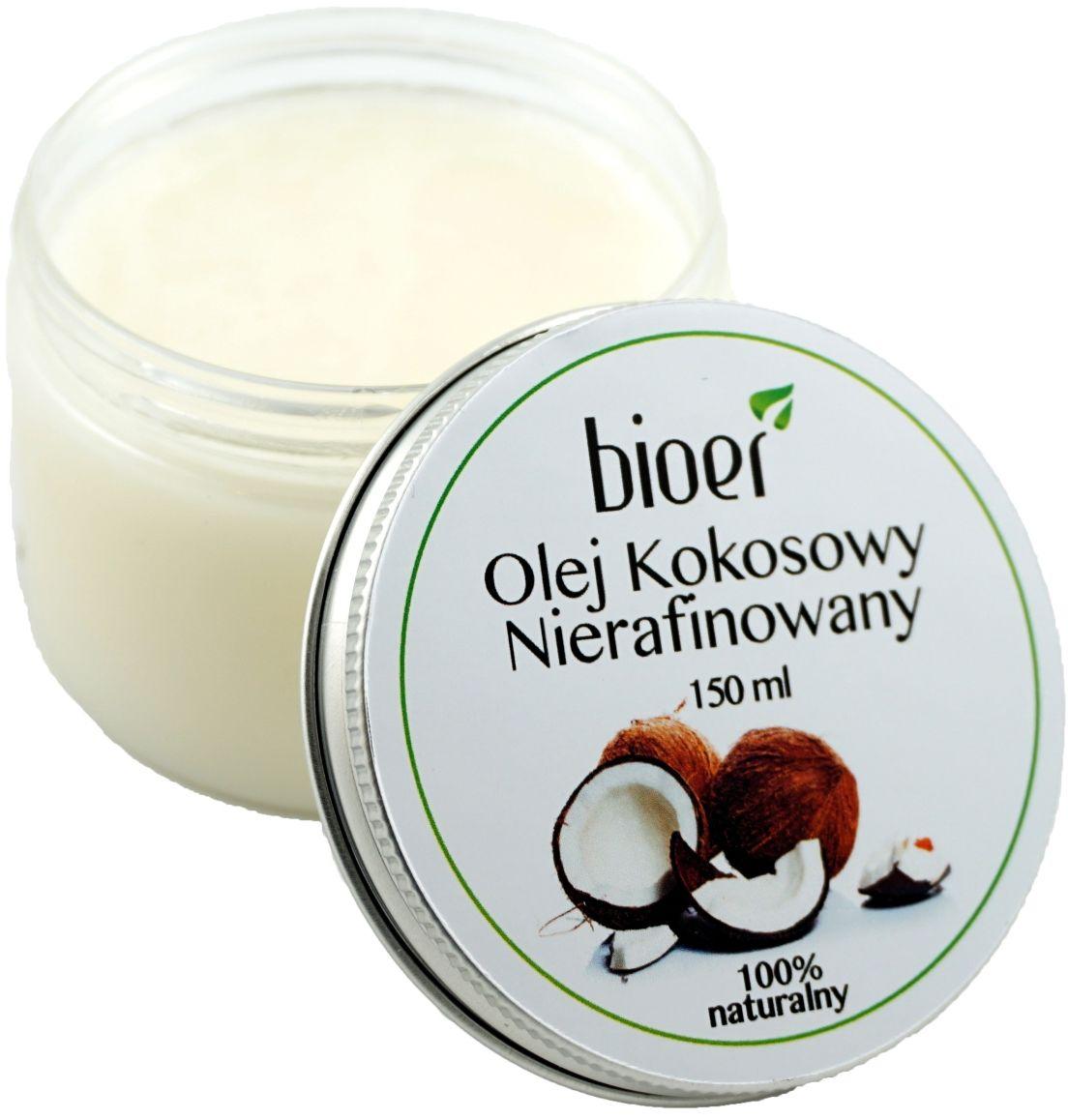 Olej kokosowy nierafinowany - 120ml - Bioer
